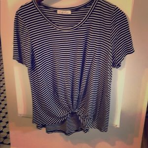 Striped twisted front shirt